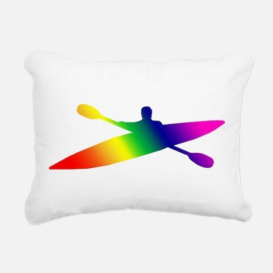 kayak2.png Rectangular Canvas Pillow