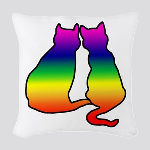 cats Woven Throw Pillow