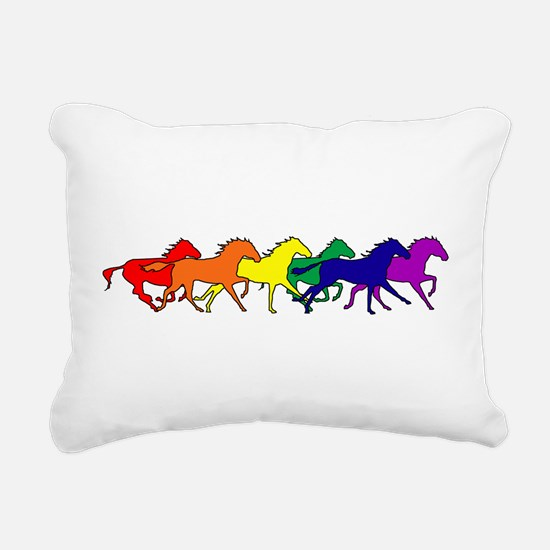horses running rainbow.png Rectangular Canvas Pill