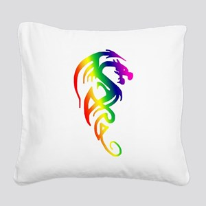 transparent dragon 2 Square Canvas Pillow