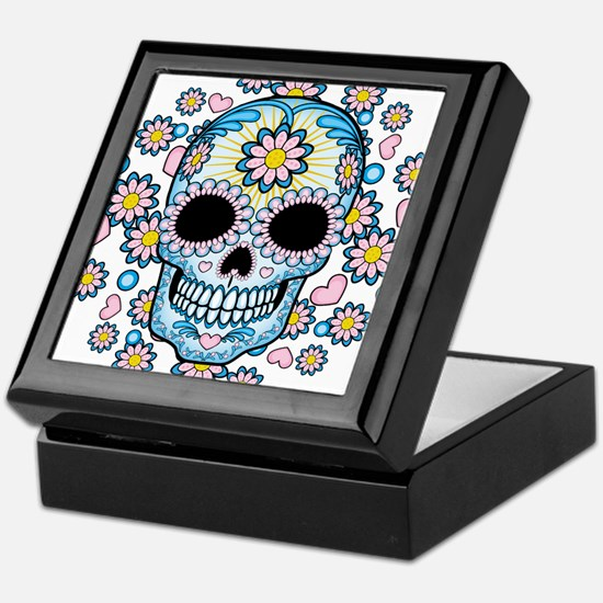 Colorful Sugar Skull Keepsake Box