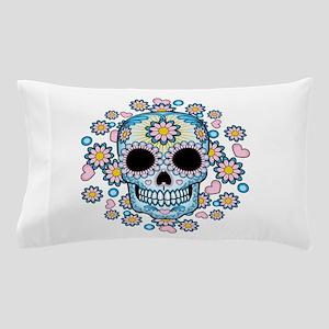 Colorful Sugar Skull Pillow Case