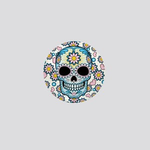 Colorful Sugar Skull Mini Button
