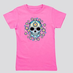 Colorful Sugar Skull Girl's Tee