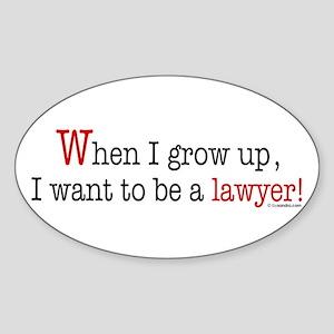 ... a lawyer Oval Sticker