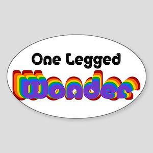 One Legged Wonder Sticker (Oval)