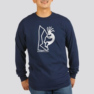 Kokopelli Rock Climber Long Sleeve Dark T-Shirt