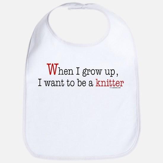 ... a knitter Bib