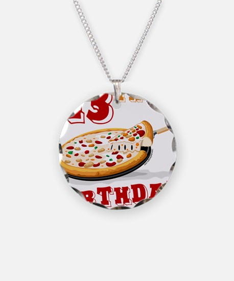 13th Birthday Pizza party Necklace