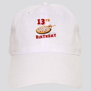 13th Birthday Pizza party Cap