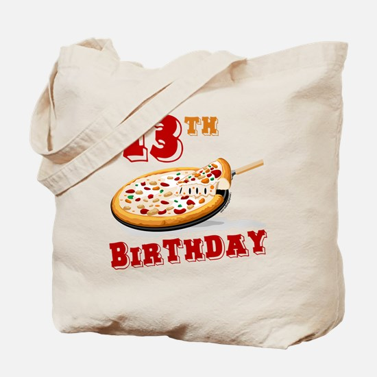 13th Birthday Pizza party Tote Bag