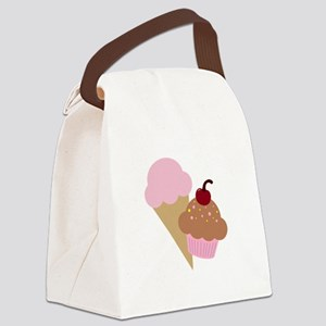 Sweet Treats Cupcake and Ice Cream Canvas Lunch Ba