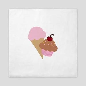 Sweet Treats Cupcake and Ice Cream Queen Duvet