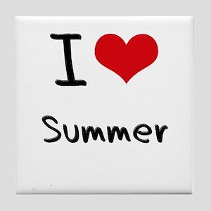 I love Summer Tile Coaster