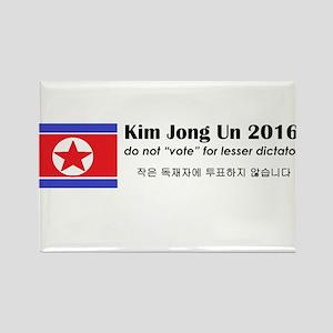 Kim Jong Un 2016 Rectangle Magnet