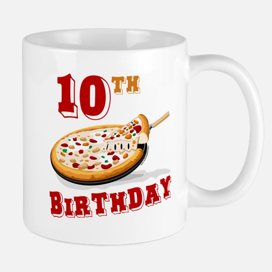 10th Birthday Pizza Party Mug
