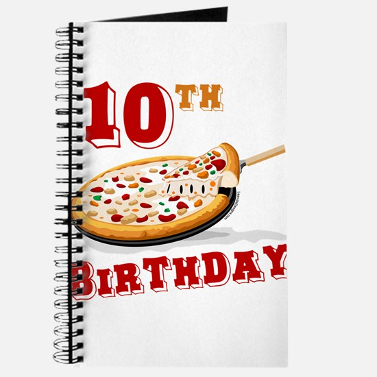 10th Birthday Pizza Party Journal