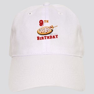 9th Birthday Pizza Party Cap