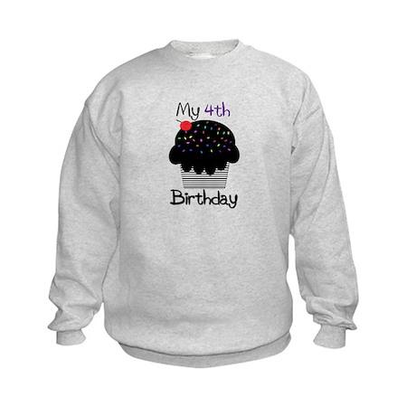 Black Birthday Cupcake Sweatshirt