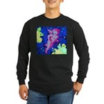 Disco Cupid Angel Graphic Long Sleeve Dark T-Shirt