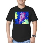 Disco Cupid Angel Graphic Men's Fitted T-Shirt (da
