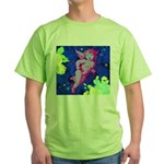 Disco Cupid Angel Graphic Green T-Shirt