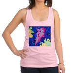 Disco Cupid Angel Graphic Racerback Tank Top