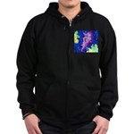 Disco Cupid Angel Graphic Zip Hoodie (dark)