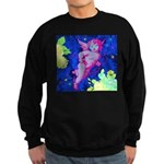 Disco Cupid Angel Graphic Sweatshirt (dark)