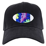 Disco Cupid Angel Graphic Black Cap