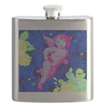 Disco Cupid Angel Graphic Flask
