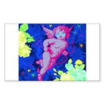 Disco Cupid Angel Graphic Sticker (Rectangle 10 pk