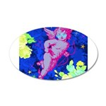 Disco Cupid Angel Graphic 35x21 Oval Wall Decal