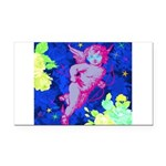 Disco Cupid Angel Graphic Rectangle Car Magnet