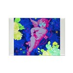 Disco Cupid Angel Graphic Rectangle Magnet