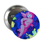 "Disco Cupid Angel Graphic 2.25"" Button"