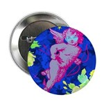 "Disco Cupid Angel Graphic 2.25"" Button (10 pa"