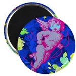 "Disco Cupid Angel Graphic 2.25"" Magnet (100 p"