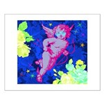 Disco Cupid Angel Graphic Small Poster