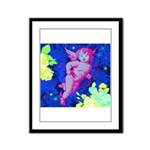Disco Cupid Angel Graphic Framed Panel Print