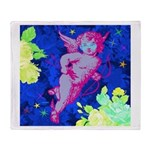 Disco Cupid Angel Graphic Throw Blanket