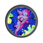 Disco Cupid Angel Graphic Wall Clock