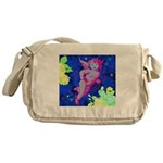 Disco Cupid Angel Graphic Messenger Bag