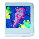 Disco Cupid Angel Graphic baby blanket
