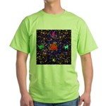 Science Pyramid Graphic Green T-Shirt