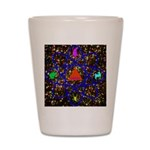 Science Pyramid Graphic Shot Glass