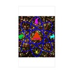 Science Pyramid Graphic Sticker (Rectangle 10 pk)