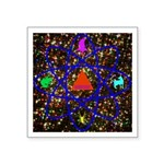 Science Pyramid Graphic Square Sticker 3