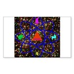 Science Pyramid Graphic Sticker (Rectangle)