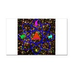 Science Pyramid Graphic Rectangle Car Magnet